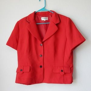 Red blazer jacket by Studio1